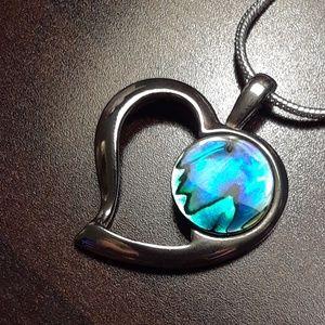 🌹Vintage 70's Signed .925 Genuine Abalone pendant